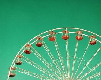 Karneval Fotografie, Riesenrad im türkisfarbenen Himmel, verträumte Kinderzimmer Zimmer Dekor, Sommer 6 x 10