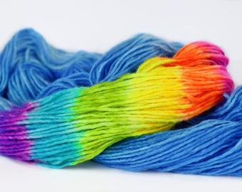 HAPPY CLOUD DK 240 yards/ 'Cloud' Yarn Base / superwash merino single, hand painted
