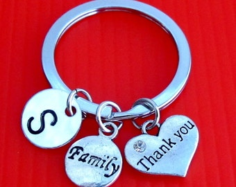 Thank you Keychain, Custom Keychain,Key Ring, Thanksgiving Occasion Peronalized Thank you Gift, Say Free Shipping In USA