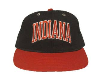 Vintage Indiana Hoosiers Fitted Hat  - Pro-Line Cap Company - Ft. Worth, Texas - size 7 1/8 Pro Model - Indiana University - IU