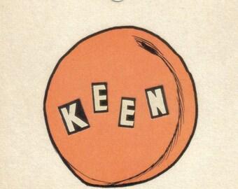 Original Collage Art, Peach Artwork, Peachy Keen