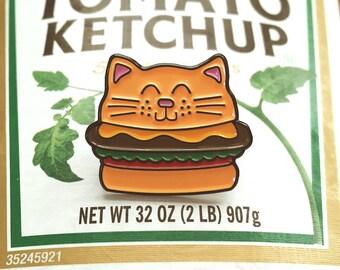 Cat Burger - Enamel Pin