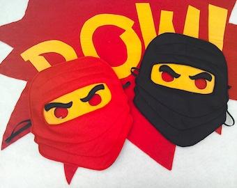 Lego inspired ninja mask/toy/dress up/costume for children, superhero, role play