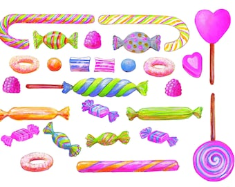 Sticker decal with no clipped candy