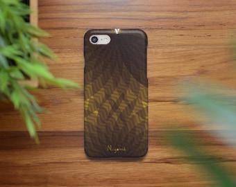 iPhone X Case, iPhone 8 Plus Case, iPhone 7 Case, iPhone 6 Case, iPhone 8 Case, iPhone 7 Plus the abstract brown leaf pattern iphone case