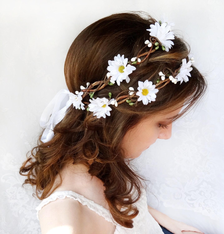 Flower crown wedding daisy headband daisy flower crown zoom izmirmasajfo