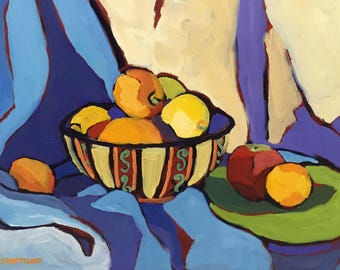 Bowl Abstract Still Life Oil Painting on Panel
