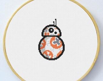 BB-8-  Cross Stitch Pattern - Instant Download