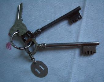 Key House 11, French Antique x 3 door original key