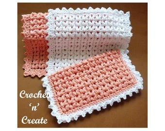 Puff Stitch Dishcloth Crochet Pattern (DOWNLOAD) CNC73