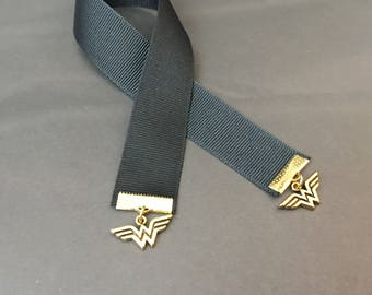 Wonder Woman Ribbon Bookmark - Book Lover Gifts - DC Comics - Inspired by Justice League - Movie Lovers Gift