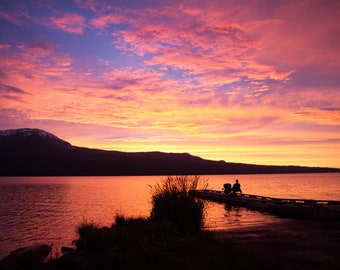 Diamond Lake, Oregon Nature Print