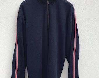 Tommy Pullover Vintage 1990s Hilfiger Sweatshirt Tommy Field Gear Sailing Gear Hip Hop Tommy Hilfiger Big Logo Sweater sz L