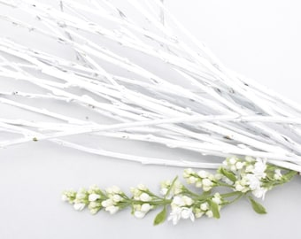 WHITE Natural Willow Branches for floral design, ECO BRANCHES, White Branches, Home decor, Craft projects, Table decoration, Wedding decor