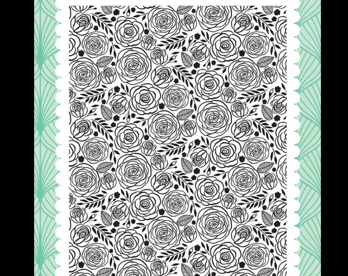 Fashionista dainty Rose 4x6 stamp set