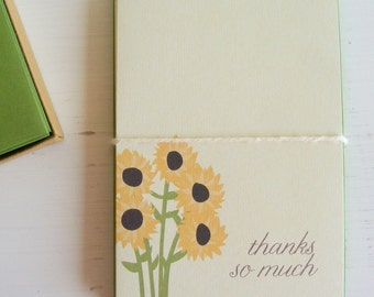 sunflowers - boxed note card set