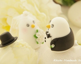love bird wedding cake topper,with sweet heart base (K359)