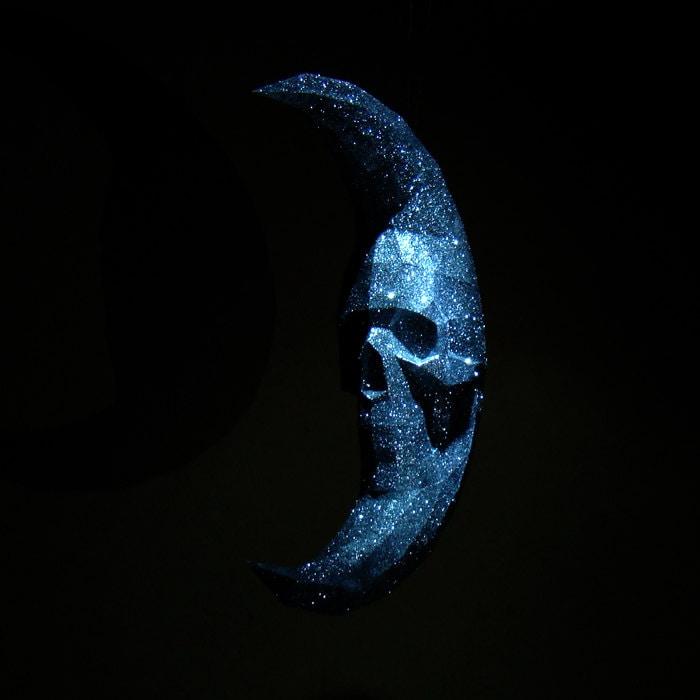 Moon Skull Printable Papercraft moon skull Halloween moon