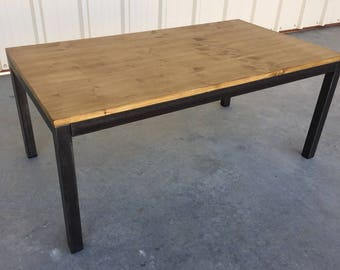 Industrial style coffee table custom