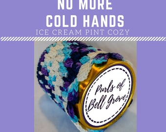 Handmade Pint-Size Ice Cream Cozy (No More Cold Hands!)