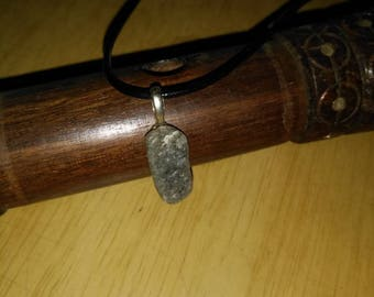 """Agate stone (11) 20"""" leather cord"""