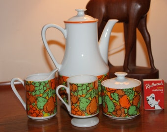 Funky 1960s/70s Coffee Set for One