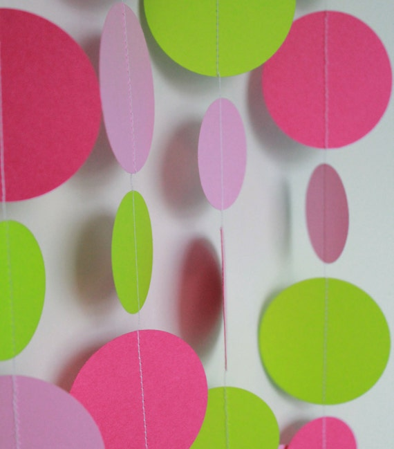 Items similar to Birthday Party Decorations Paper Garland Party