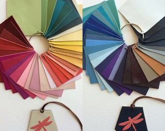 SPECIAL ORDER Leather Tag With Your Own Colors & Design