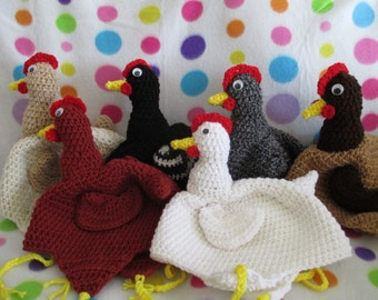 Chicken, Hat, beanie, costume, gag gift, silly, rooster, farm, animal