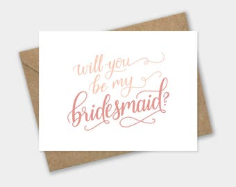 Will You Be My Bridesmaid Card - Maid of Honor, Matron of Honor, Flower Girl, Ring Bearer, proposal, bridal party gift, bridesmaid card