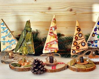 Decorative wood trees.