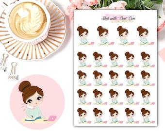 Amelie kawaii BUSY DAY planner stickers || Erin Condren Life Planner, Kikki K, Plum Paper Planner