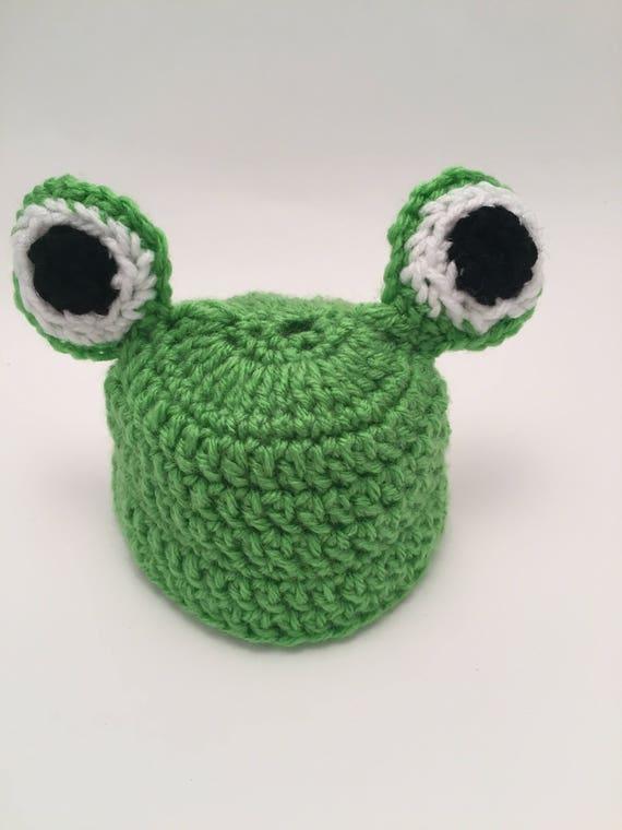 Häkelmütze Frosch Frosch Babymütze häkeln Säugling