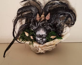 Sea Witch Shelf Decor Siren of Sea / Macabre / Zombie / Haunted House / Halloween / Voodoo / Horror / Witch / Creepy Craft Doll