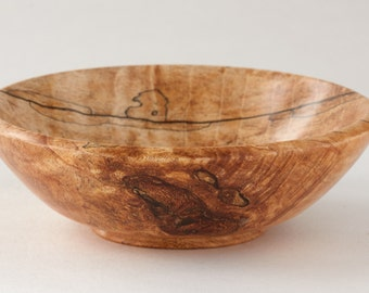 Hand Turned Splated Maple Bowl