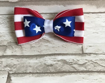4th of July bow, Red white and blue bow, patriotic bow