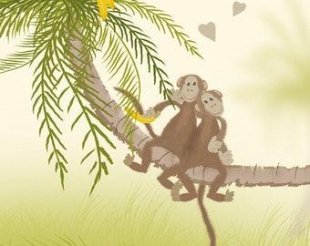 Adoree, Little Monkee - Monkey Card