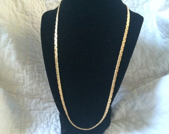 Vintage Goldtone Chain Necklace, 24'' Long