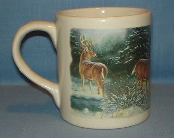 Country Deer Scene Coffee Mug