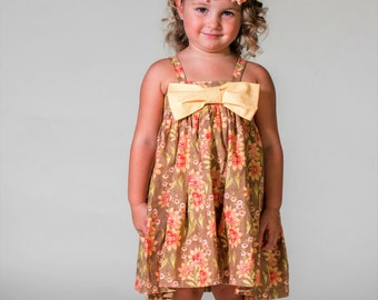 Girls Summer dress-Girls Boutique Dress-Toddler Easter Dress-Girls Spring Dress-Nana Barbie Boutique-CPSC-Girls Floral Easter Dress-