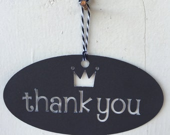 Crown Thank You Tags