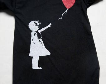 Banksy Balloon baby onesie bos-55