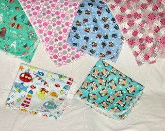 Flannel - Swaddle Blanket - Receiving Blanket - Baby Boy - Animal Fabric - Light Snuggle Fabric