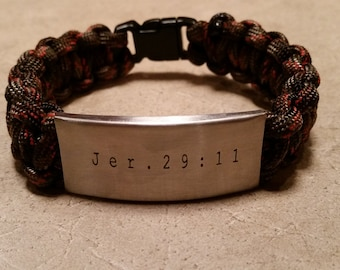 Personalized Engraved Paracord Bracelet