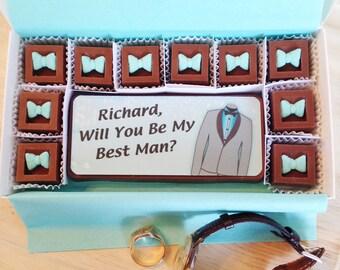 Will You Be My Best Man Chocolates, Best Man Proposal Chocolates, Be My Groomsman