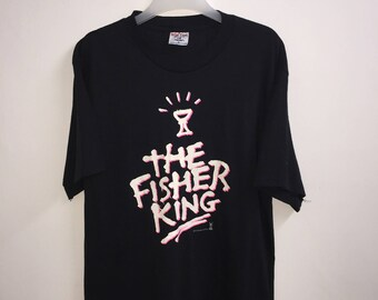 8]---Vintage! 90s The Fisher King T-Shirt | Movie Shirt | Movie Promo Shirt | Large Size T-Shirt