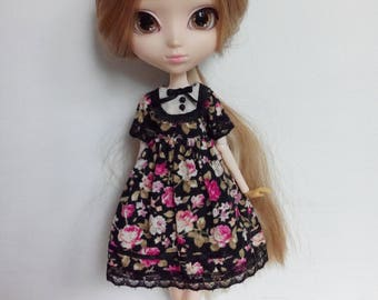 The Secret Garden  - Black Roses - black ver. - dress for pullip blythe azone momoko obitsu and similar dolls