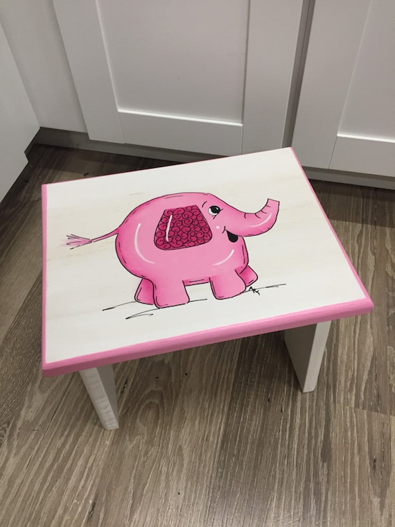 Pink Elephant Personalized Children S Step Stool Kids