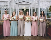 Coralie Beatrix Mismatched Bridesmaids~ Long Maxi, Ball Gown Infinity Dress- Choose your Fabric from over 55 colors-