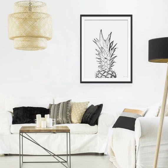 pineapple print wall art prints kitchen decor art prints
